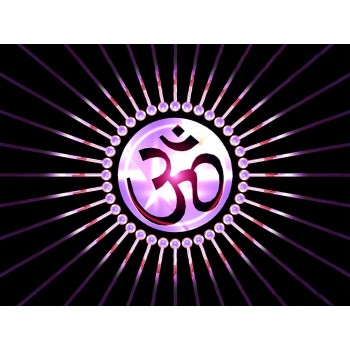 Om in black background
