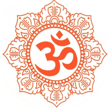 Om in white background
