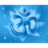 Om in blue background