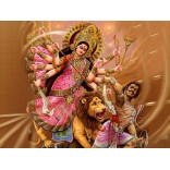 Goddess Durga defeats Mahishasura