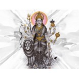 Goddess Durga in black & white background