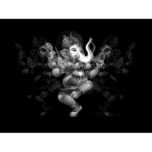 Lord Ganesha Black and White