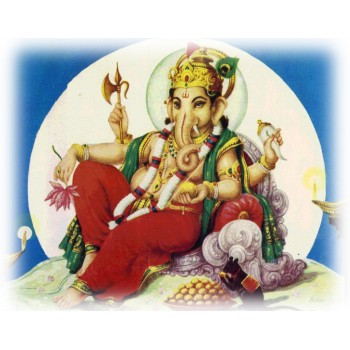 Lord Ganesha in moon background