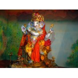 Ganesha statue on Krishna pose