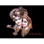 Krishna looks at Radha