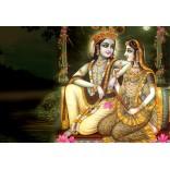 Lord Krishna & Radha at moonlight