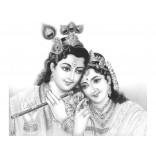 Pencil sketch of Lord Radhakrishna