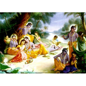 Lord Krishna and Gopis