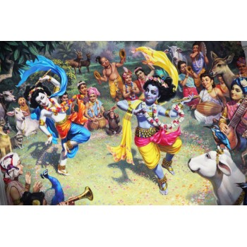 Krishna and Balaram dancing