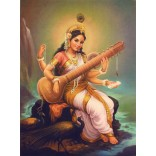 Painting of Goddess Saraswati
