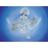 Painting of Goddess Saraswati on swan