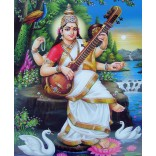 Goddess Saraswati at riverbank