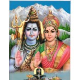 Lord Shiva and Parvati in Mt. Kailash