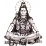 Lord Shiva in black and white background