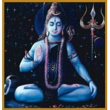 Lord Shiva in blue