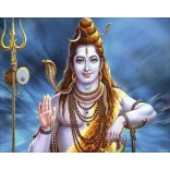 Lord Shiva in blue background