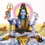 Painting of Lord Shiva meditating