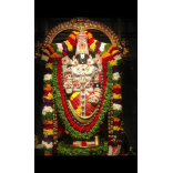 Flower decoration of Lord Venkateshwara
