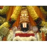 Flower decoration of Lord Srinivasa